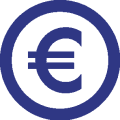 Euro Blue Sign